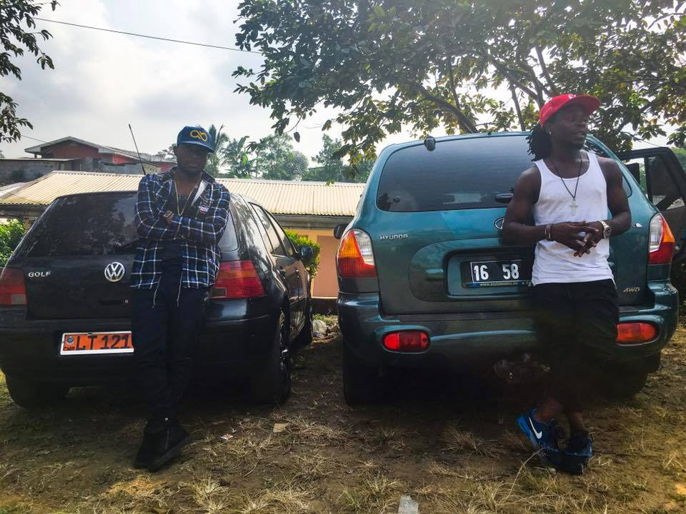 Salatiel shows up his new volkswagen golf and Mr. Leo shows off his Hyundai Sante Fe