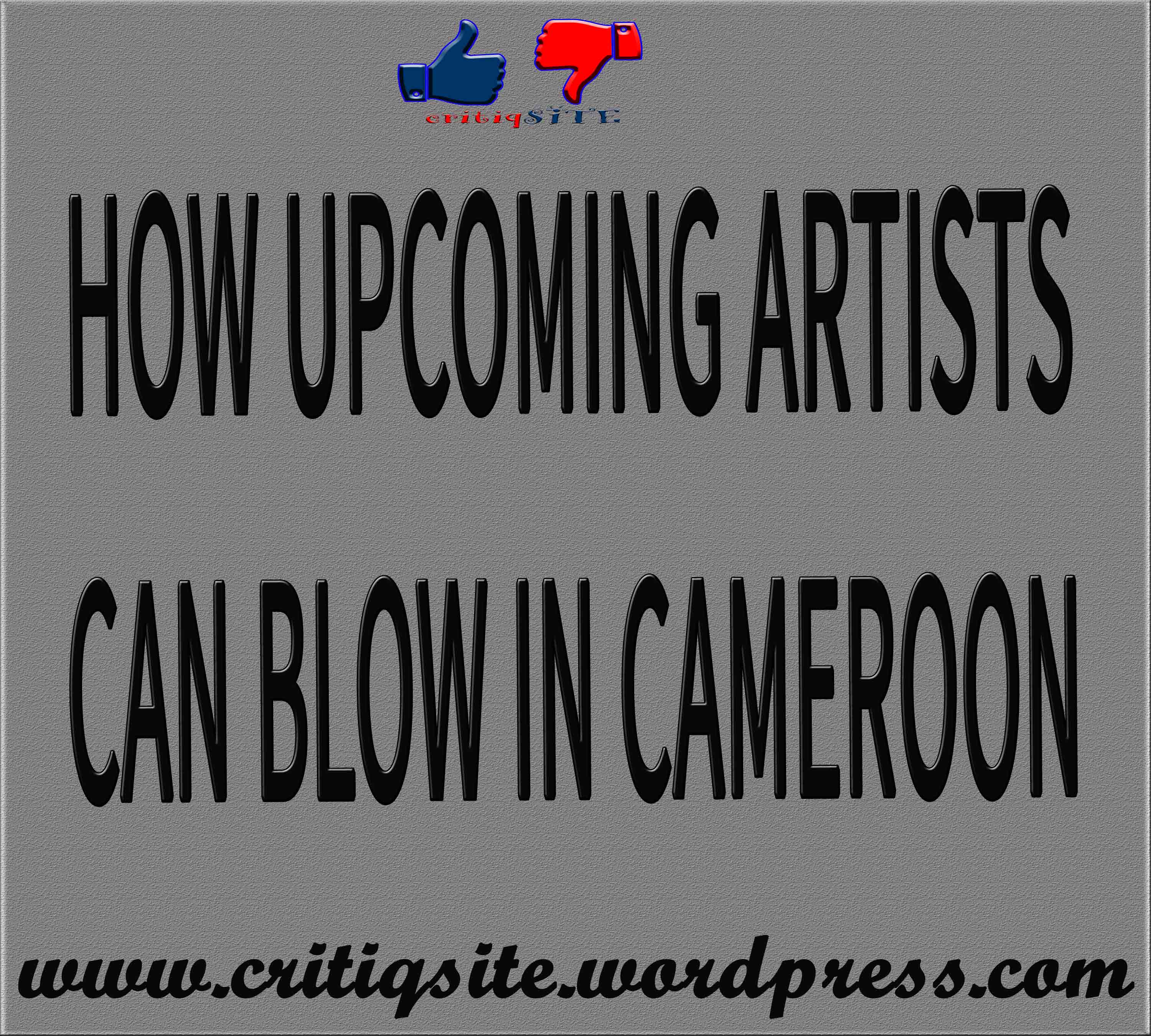 HOW UPCOMING ARTISTS CAN BLOW IN THE CAMEROONIAN MUSIC INDUSTRY