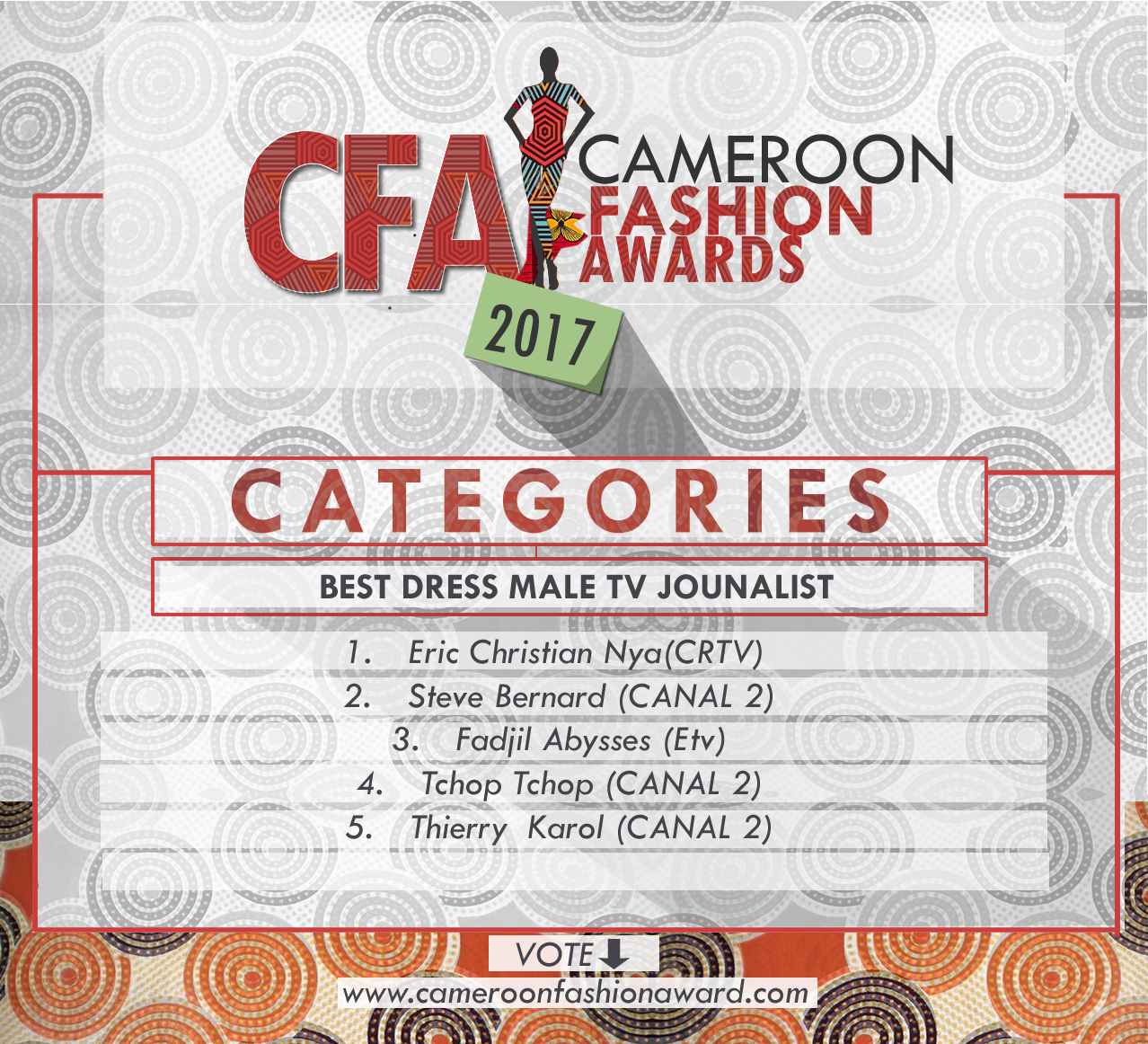 CFA best dress male tv journalist