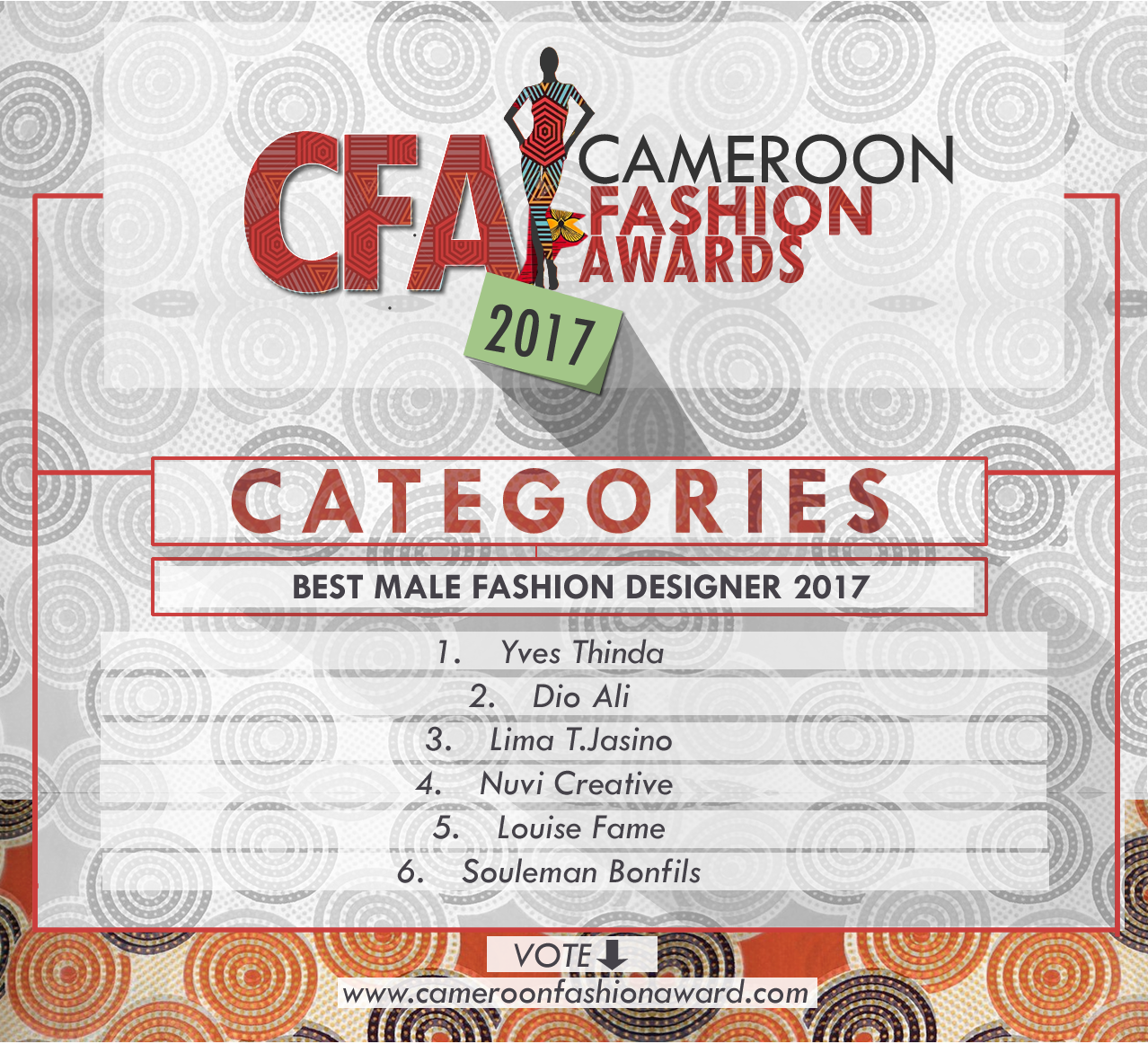 CFA best male fashion designer