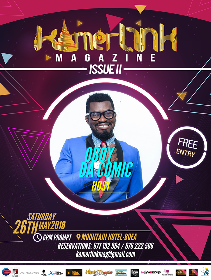 Comedia OBoy Da Comic to host/Perform at the Second Edition of KamerLink Magazine Launch