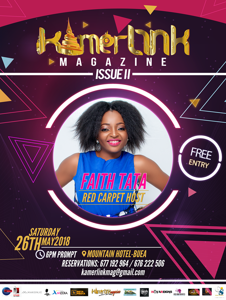 Faith Tata to host the red carpet at the Second Edition of KamerLink Magazine Launch