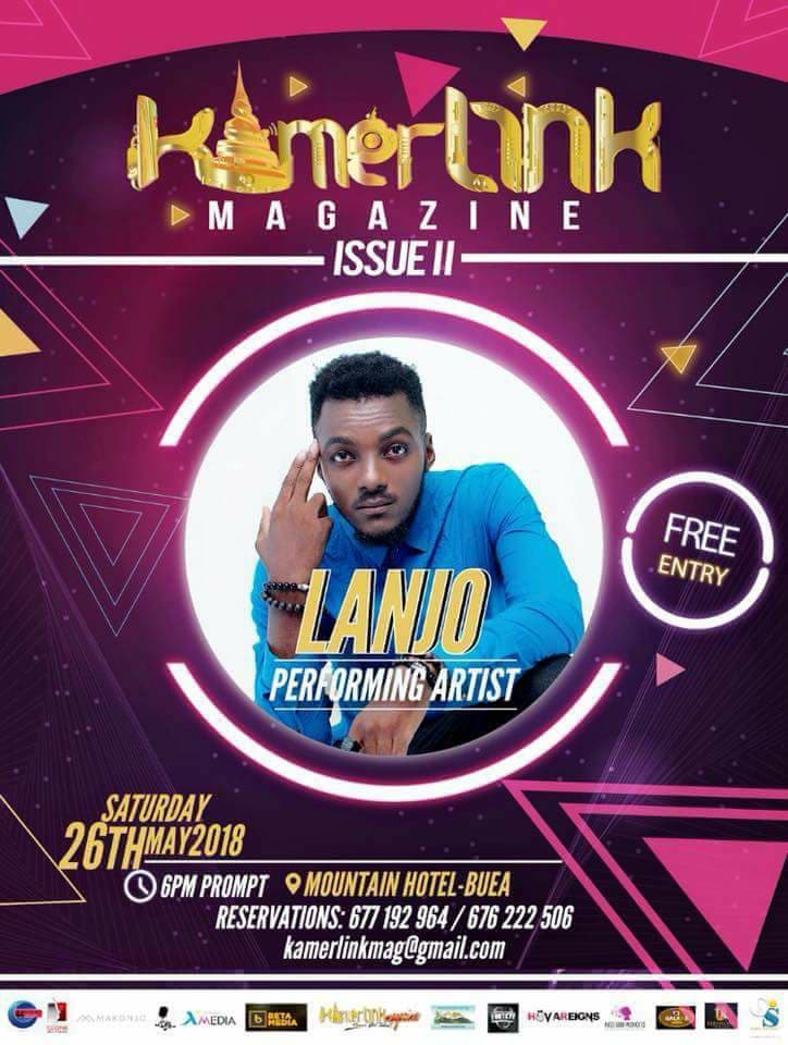 Lanjo to perform at the Second Edition of KamerLink Magazine Launch