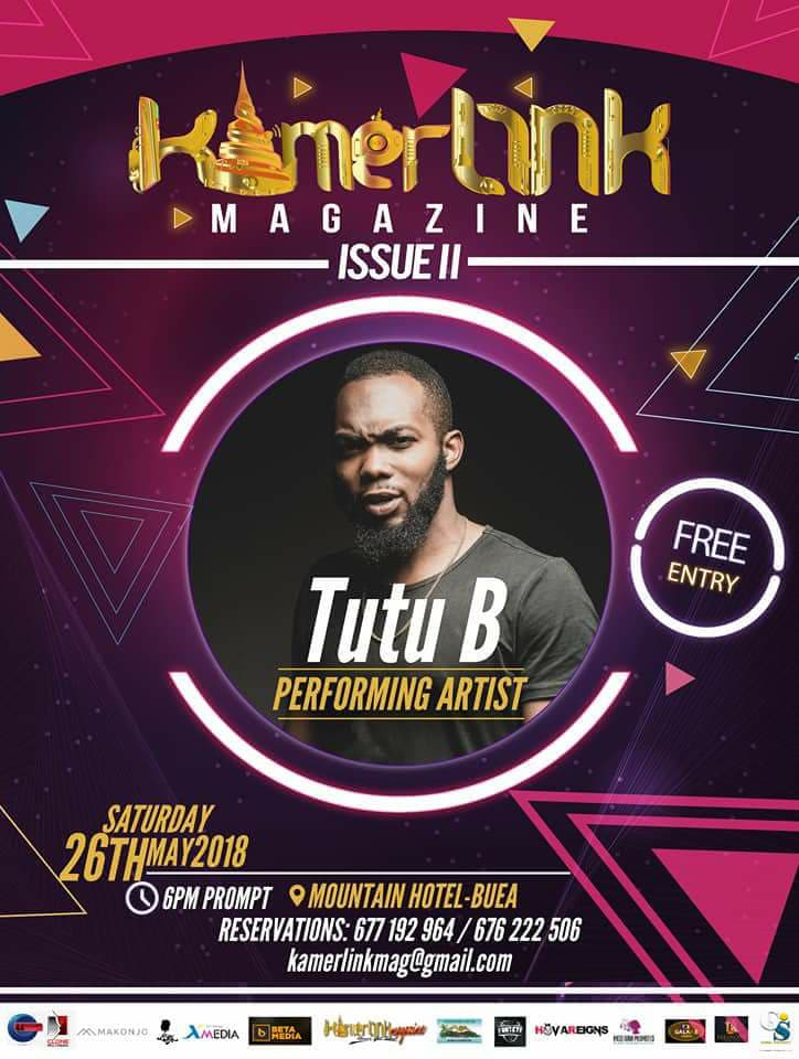 Tutu B to perform at the Second Edition of KamerLink Magazine Launch