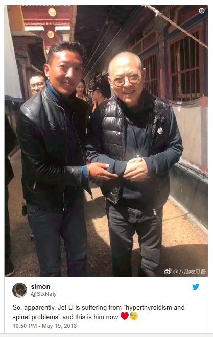Action Superstar Jet Li Unrecognizable