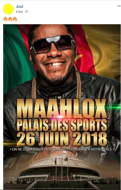 Jovi Shares the Poster of Maahlox Palais Des Sport Concert