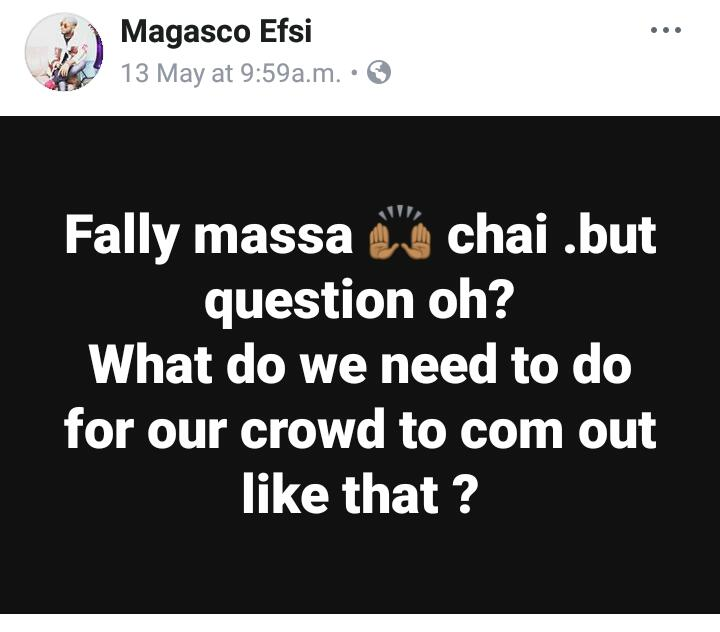Magasco's Reaction About fally Ipupa's Palais des Sport Fill Up iN Yaounde