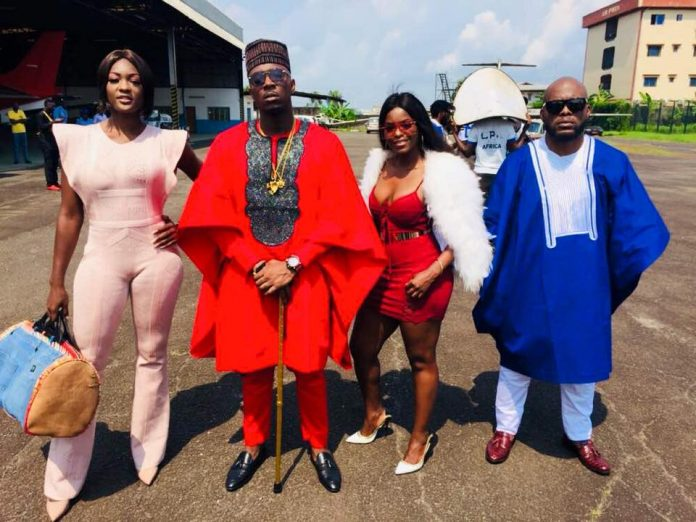 Onset of My Way By Stanley Enow (Pictured from Left Laura Dave, Stanley Enow, Daphne and Pit Baccardi)