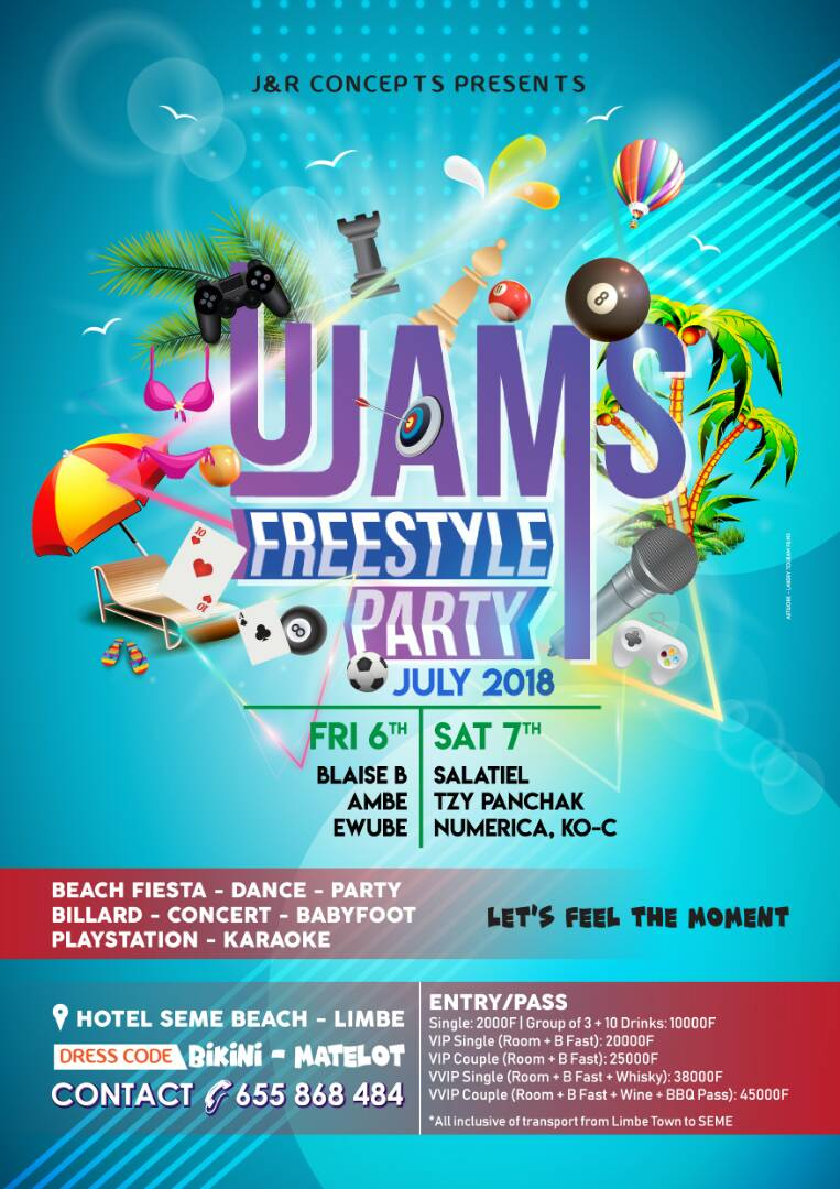 UJAMS FREESTYLE PARTY POSTER