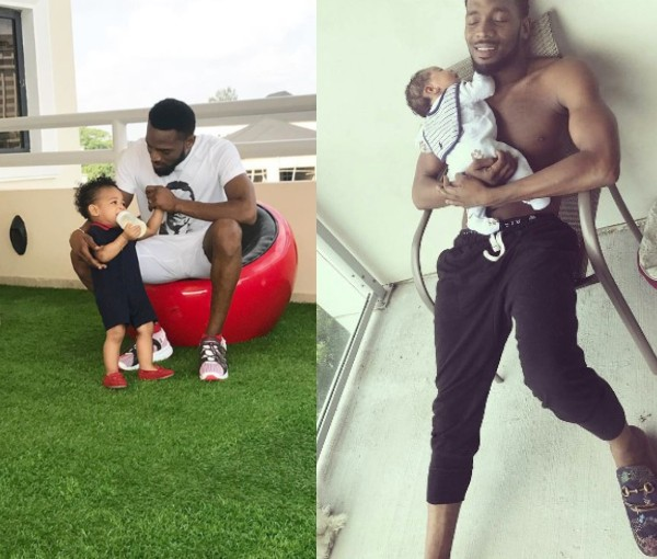 Dbanj and Late Son