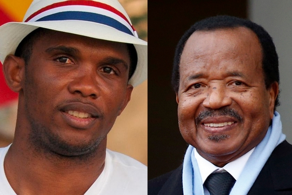 Etoo and Paul Biya
