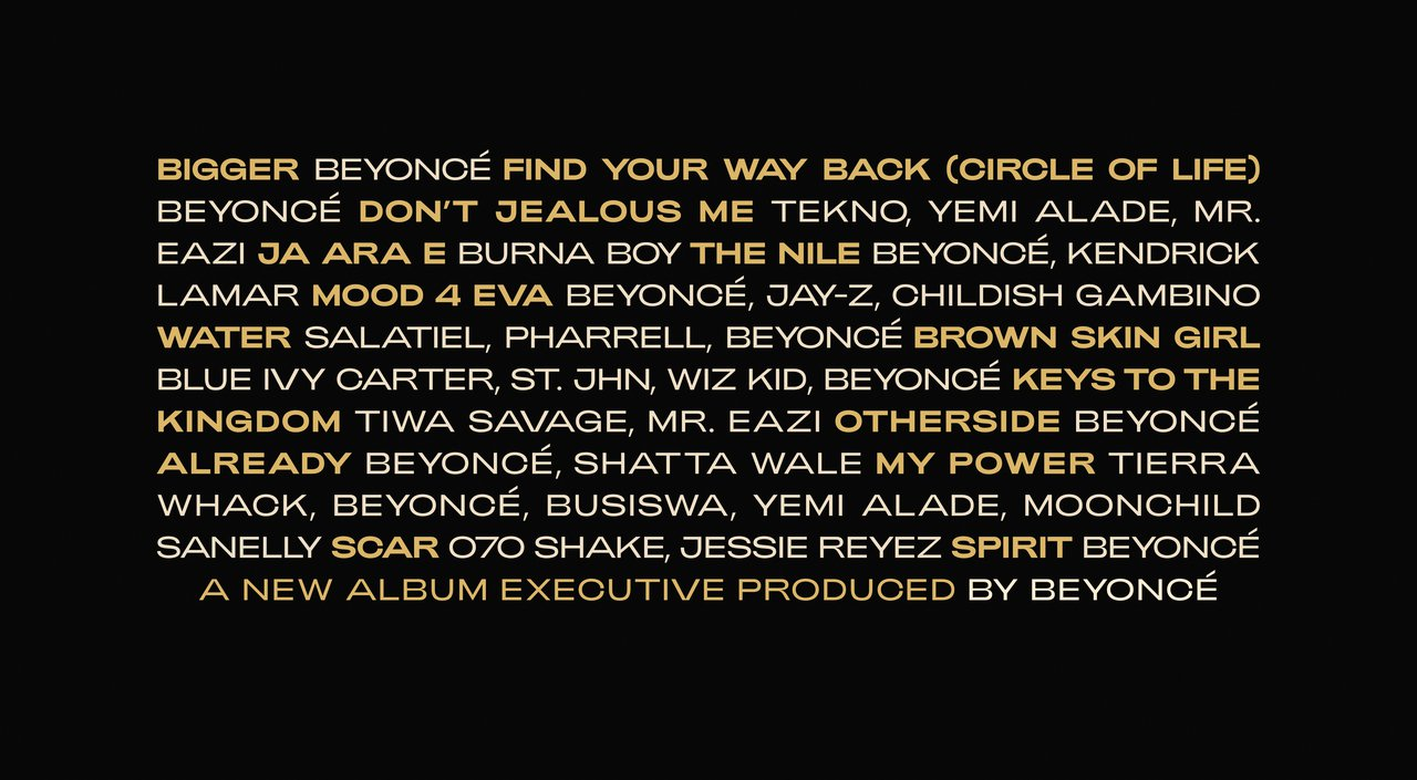 Beyonce The Gift Tracklist
