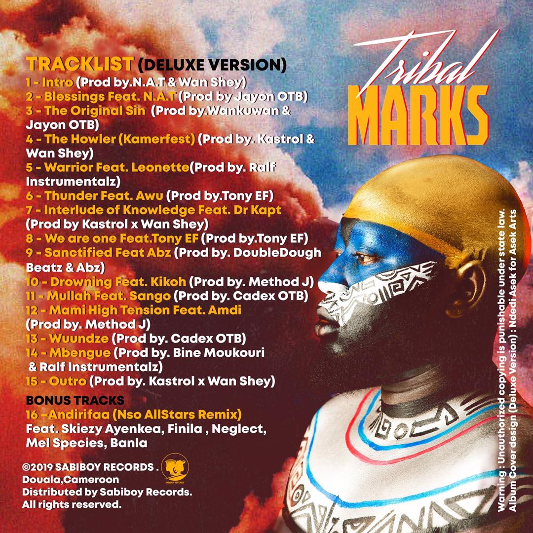 Wan Shey (Tribal Marks Album Tracklist Back Cover)