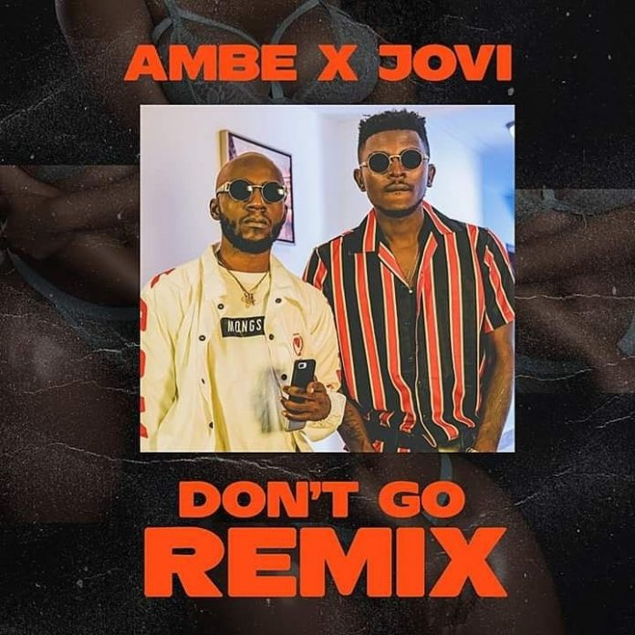 Ambe Feat. Jovi - Don't Go Remix (Official Cover Art)