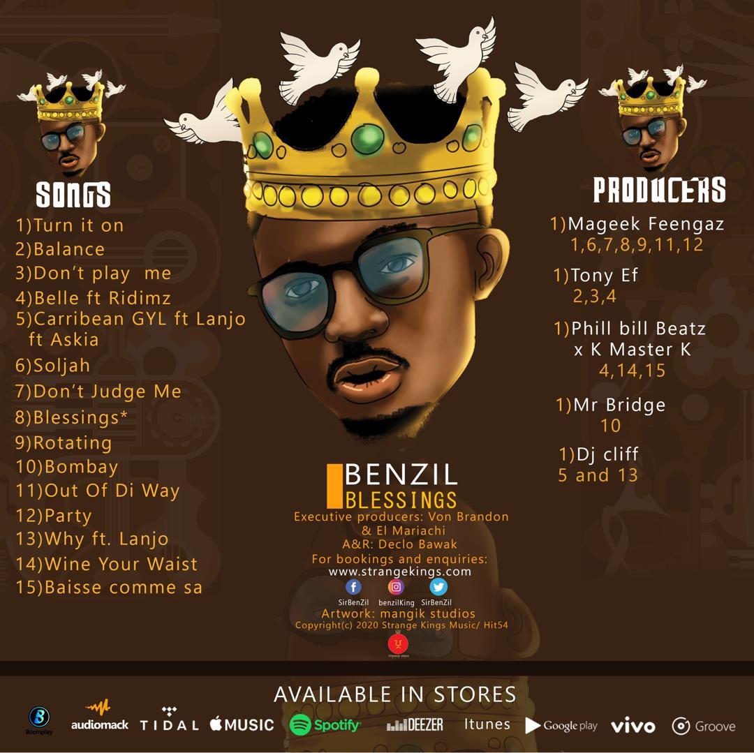 Benzil - Blessings (Official Album TrackList Artwork)