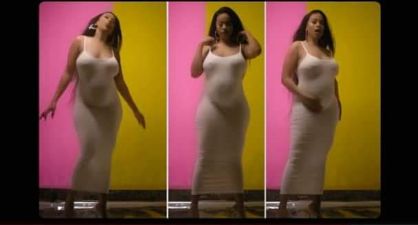 Blanche Bailly Showing Baby Bump in Mes Respect Acoustic Video