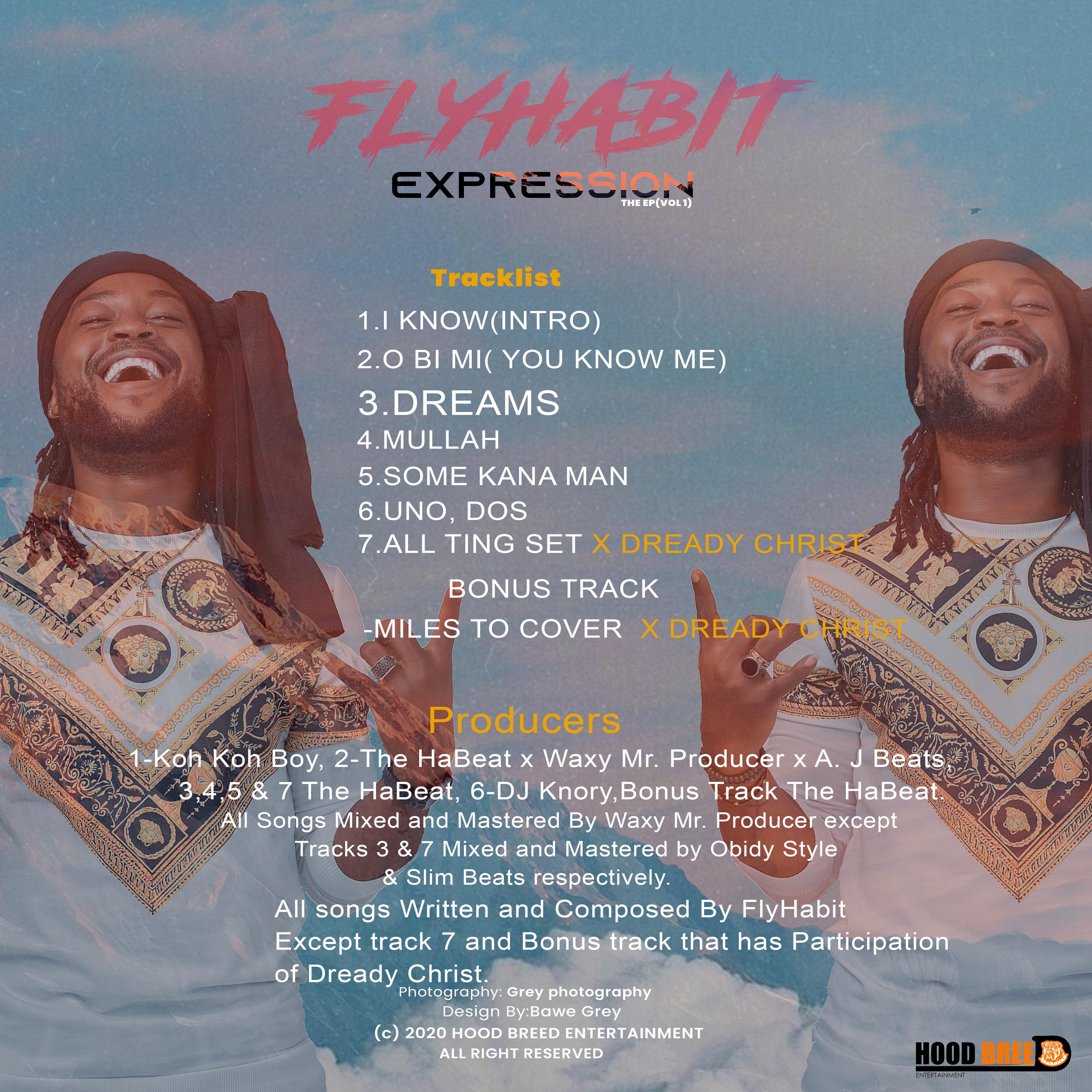 Flyhabit EXPRESSION - (Vol 1) Back Cover