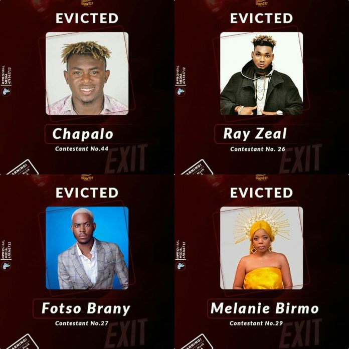 Evicted from Biggy 237- Chapalo x Ray Zeal x Fotso Brany x Melanie Birmo