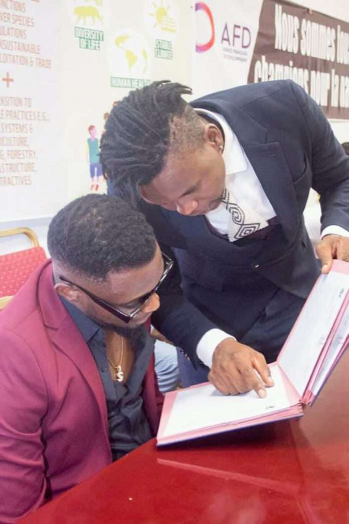 Salatiel and Wax dey at The Ministry of Youth Affairs and Civic