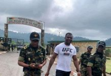 Francis Ngannou At the BIR Camp