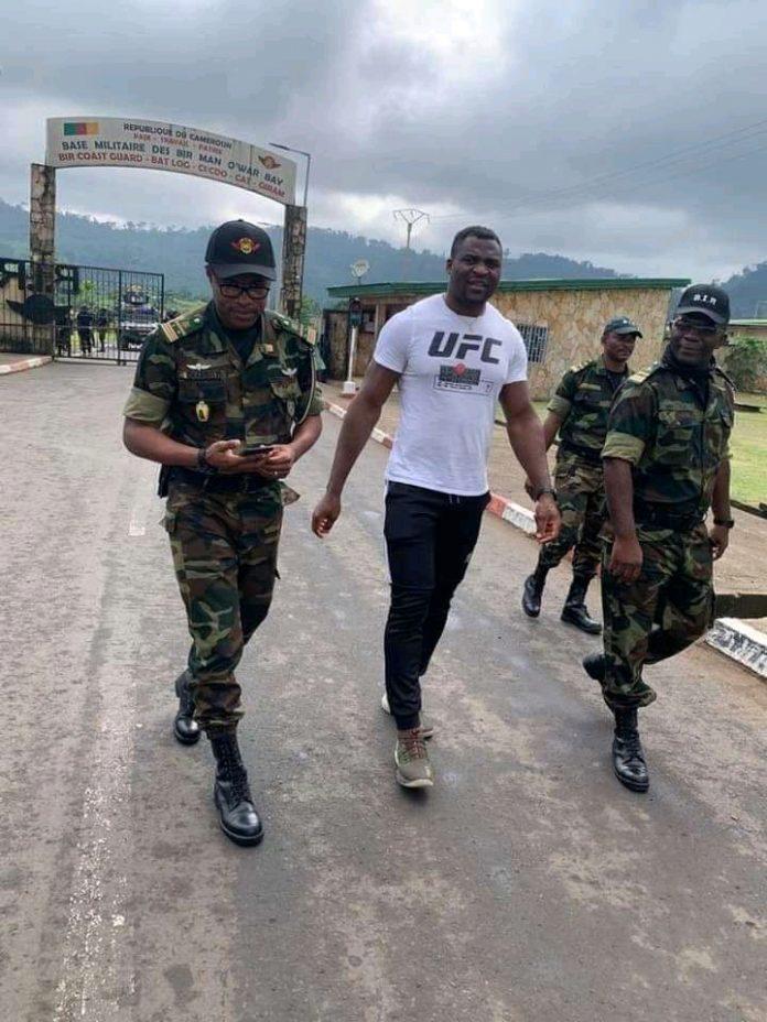 Francis Ngannou At the BIR Camp