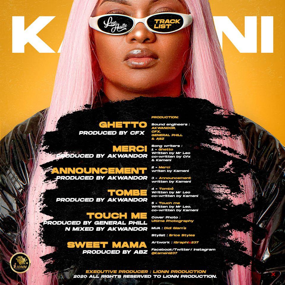 Kameni Love & Hustle Tracklist Art
