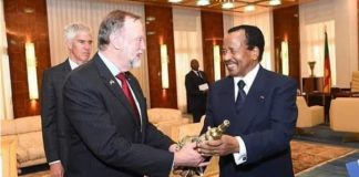 Tibor Nagy and H.E President Paul Biya