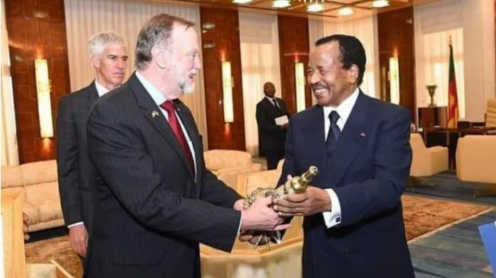 Tibor Nagy and H.E President Paul Biya