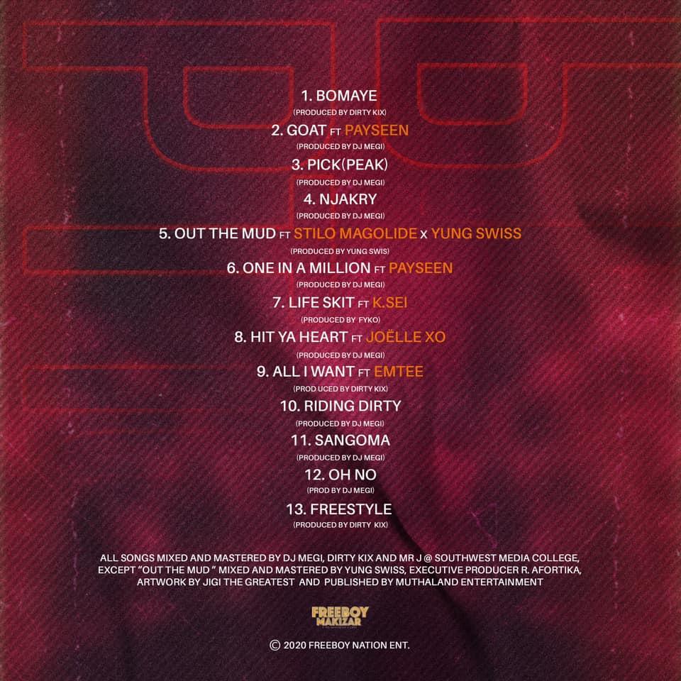 Makizar - Pidgin Trap 101 Tracklist