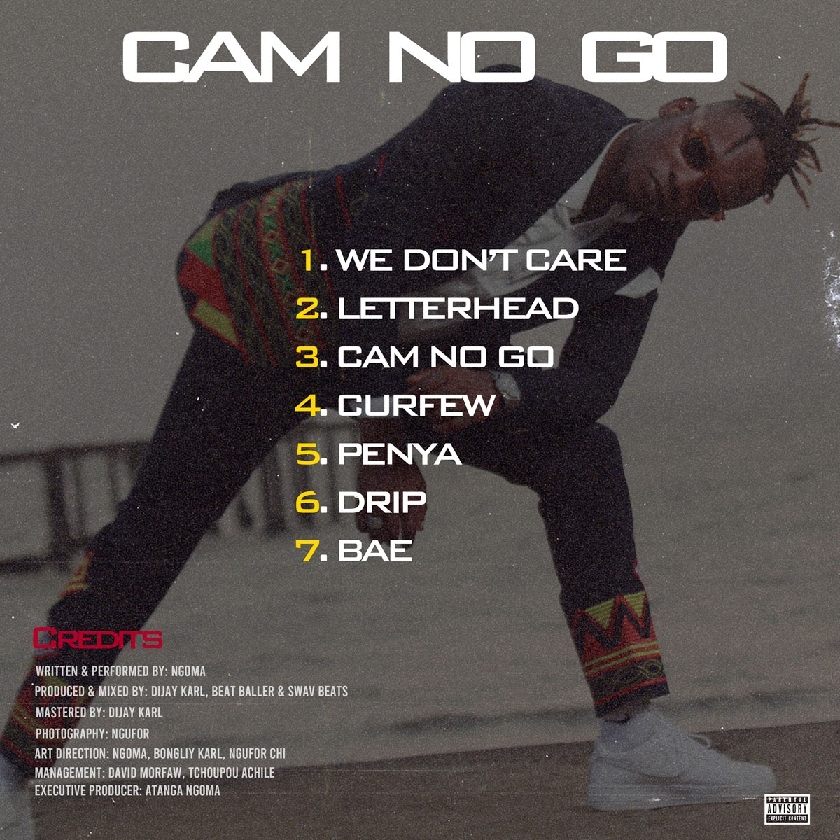 """10 Best Albums by Cameroonian artists of 2020. Cover art for """"Cam no Go"""" by Ngoma"""