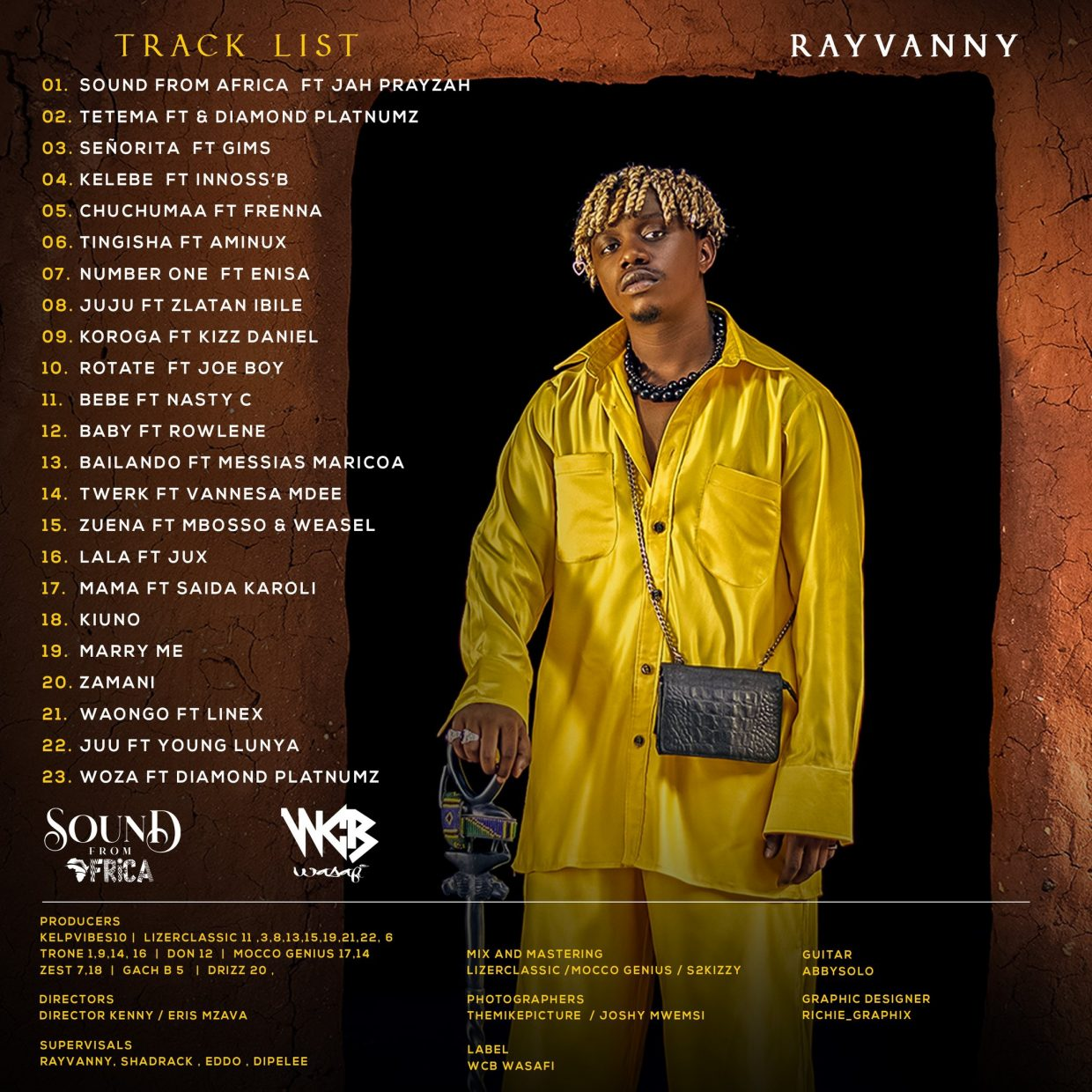 """Rayvanny """"Sound From Africa (Official Track List)"""